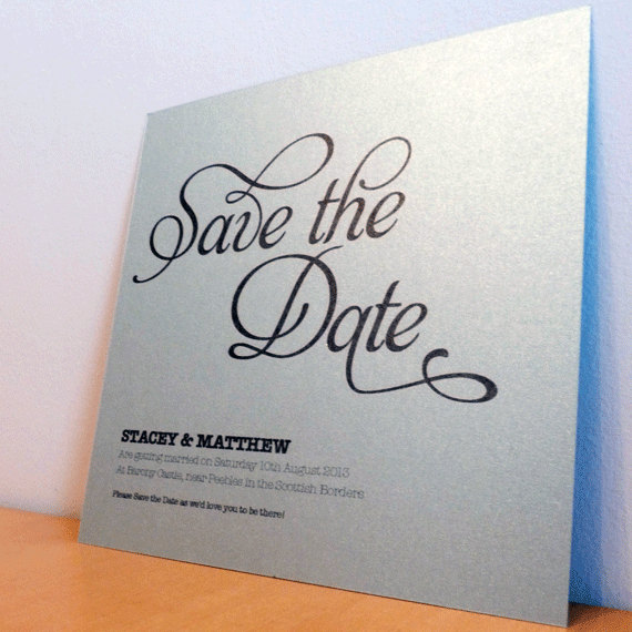 Save the Date Card - Flourish Wedding Range - Wedding Invitation