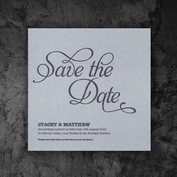 Save the Date Card - Digital Printable File - Flourish Wedding Range - Wedding Invitation