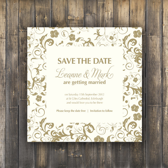 Save The Date Card - Digital Printable - Blossom Wedding Range on ...