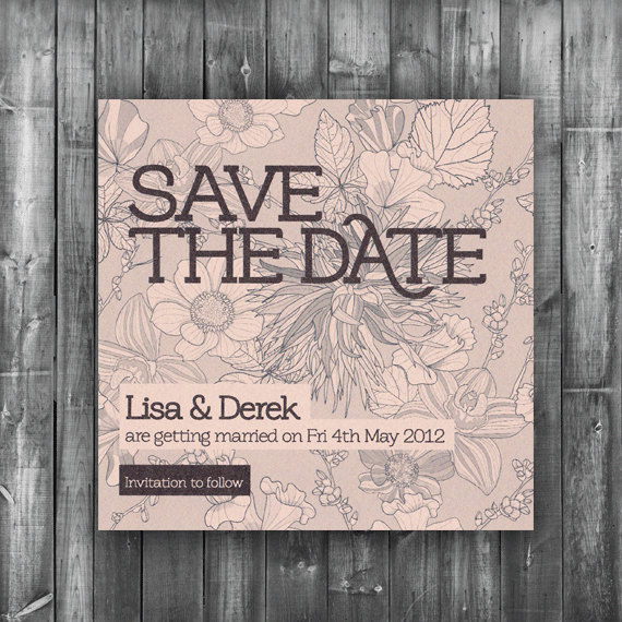 Save The Date Card   Digital Printable File   Bloom Wedding Range   Wedding  Invitation