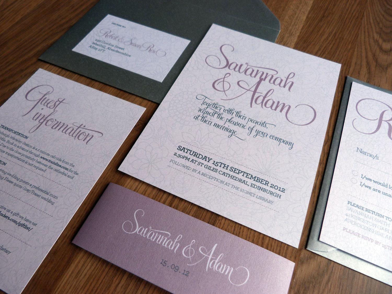 Wedding Invitation Suite – gangcraft.net